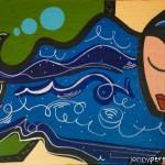 Easy Breezy - 2009 - 24×36″ - Acrylic & Oil Pen on canvas