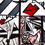 """Fragments of She - 2012 - 48"""" x 60"""" - Mixed media (Acrylic and silver leaf on canvas)"""