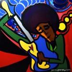 """Hendrix - 2008 - 36"""" x 36"""" acrylic on canvas"""