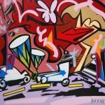 """Peace Amongst Chaos - 2012 - 40"""" x 56"""" - Acrylic on canvas"""