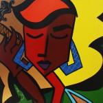 I Breathe Your Air - 2008 - 40×30″ Acrylic & Oil Pen on Canvas