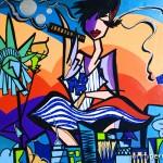 My Light, My Love, New York City - 2009 - 24×48″ - Mixed media on Canvas