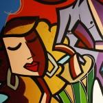 Serenade - 2009 - 36×48″ - Mixed Media on canvas