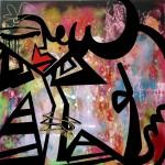 "La Morena - 2013 - 40"" x 40"" - Acrylic and Gold Leaf on Canvas"