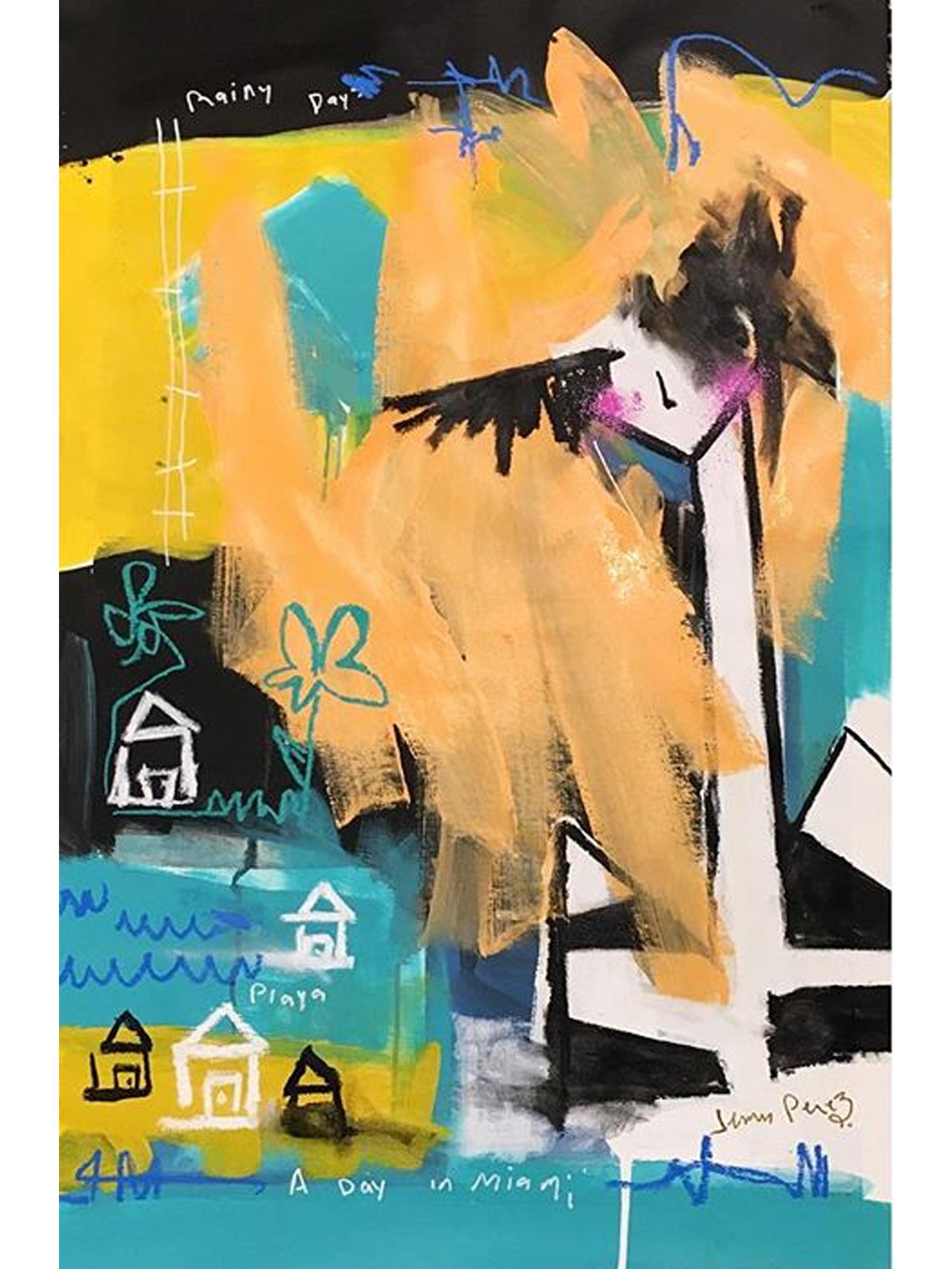 "Good Days and Bad Days - 2016 - 40"" x 25"" - Acrylic on canvas"