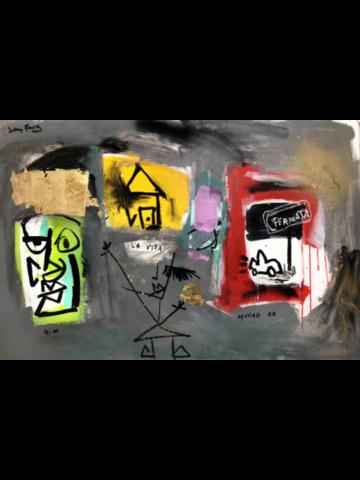 "La Vida - 2017 - 24"" x 36"" - Acrylic, graphite on canvas"
