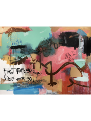 "Set Me Free - 2017b - 72"" x 96"" - Acrylic, aerosol and oil stick on canvas"
