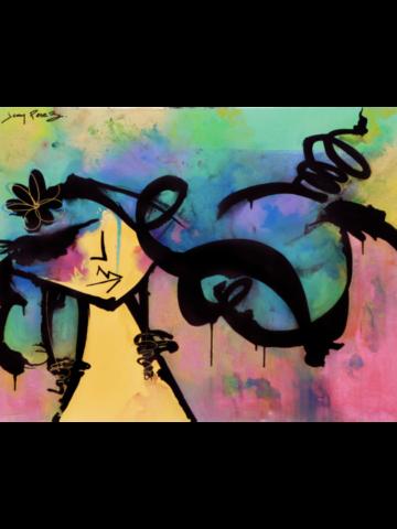 """Third Eye Daze - 2017 - 36 x 48"""" - Mixed media on canvas"""
