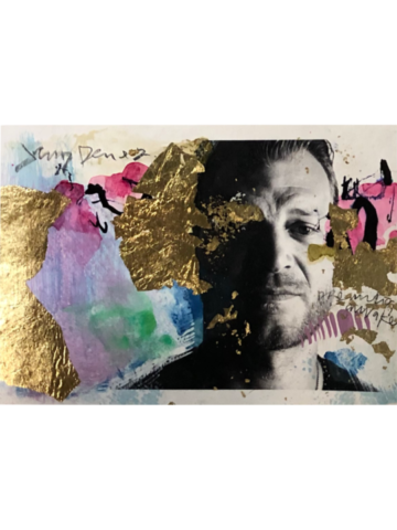 "Dreaming Awake- 5"" x 7""Mixed media on paper, 2020"