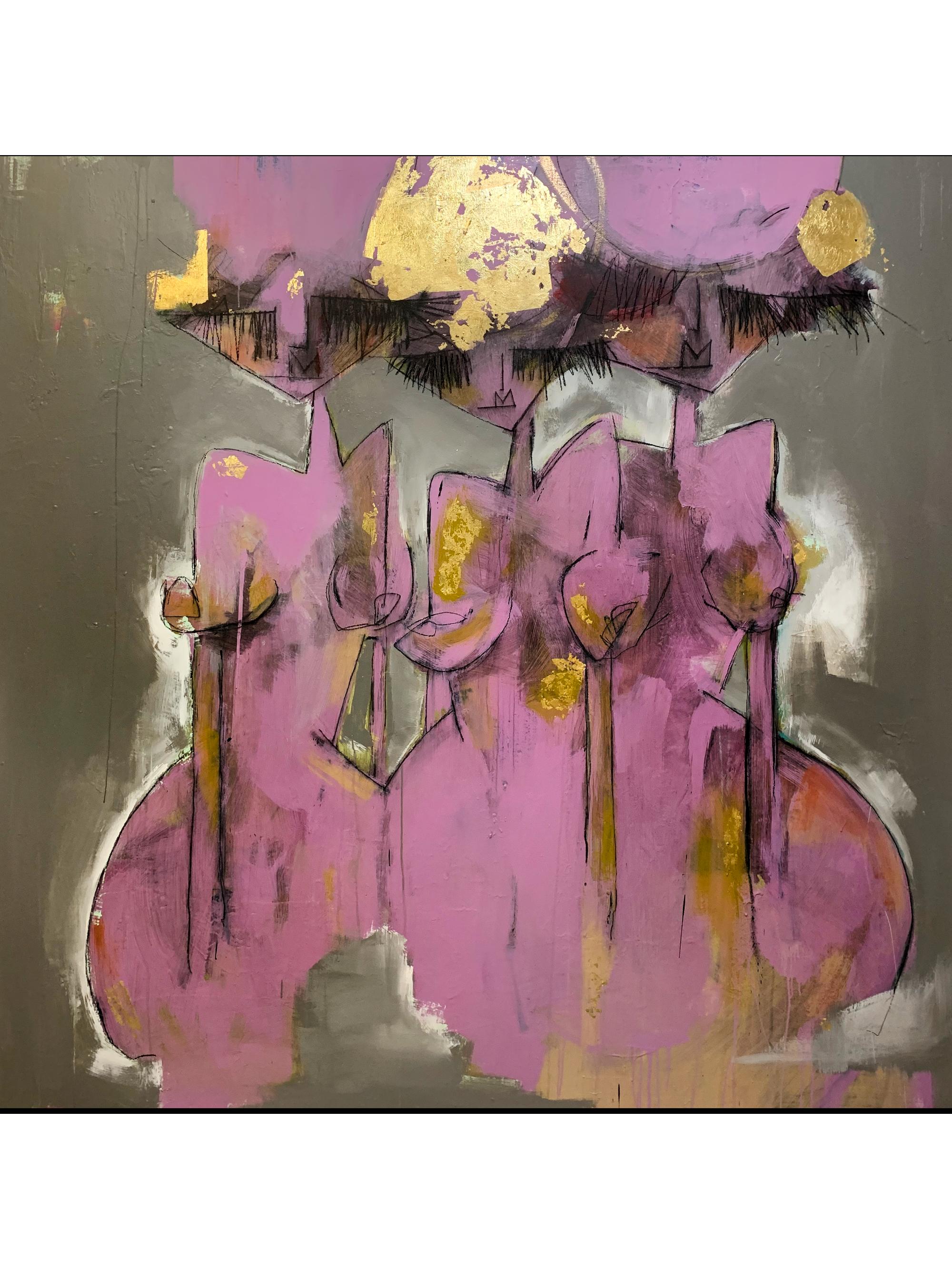 """Trinity72"""" x 72""""- Mixed media on canvas, 2020"""