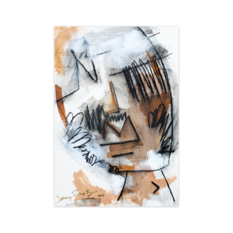 Brave Man - 18 x 12 inches. Acrylic and charcoal on watercolor paper.